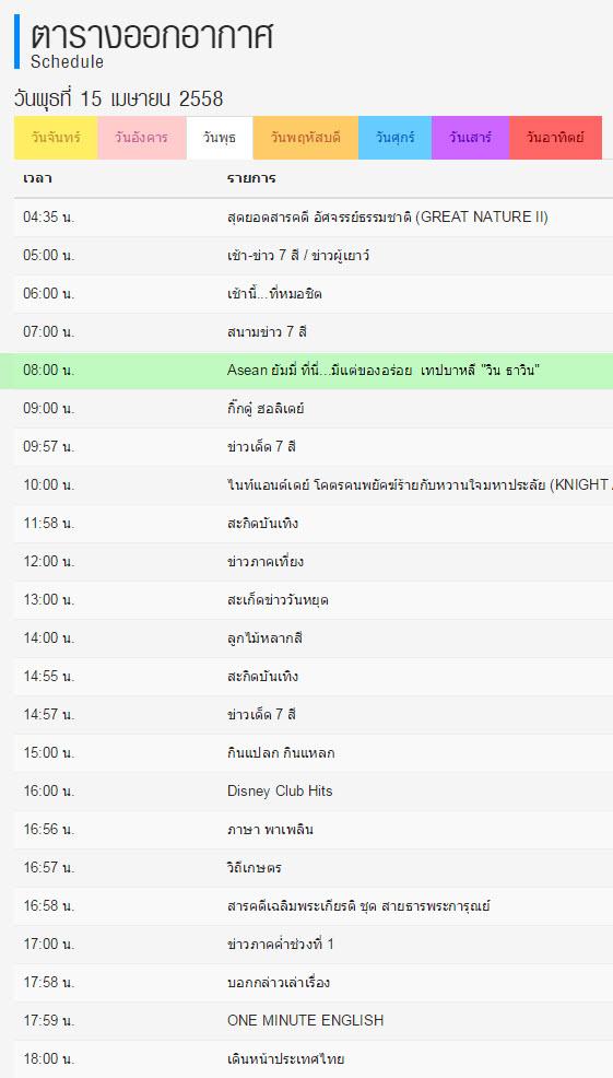 Credit Program: CH7.com Asean Yummy เทป 15 เมษายน 2558 รอเที่ยวไปชิมไปกับธาวินกันนะ
